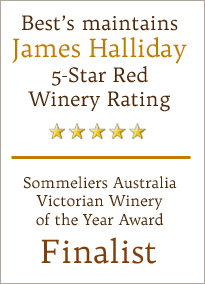 Best's maintains James Halliday 5-Star Red Winery Rating
